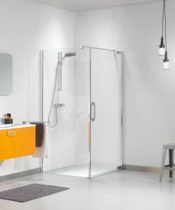 Sealskin Get Wet Impact douchecabine swingdeur met zijwand 100x195 cm chroom/zilver hoogglans helder glas