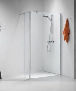 Sealskin Get Wet Impact inloop douchecabine 100x195 cm chroom/zilver hoogglans helder glas