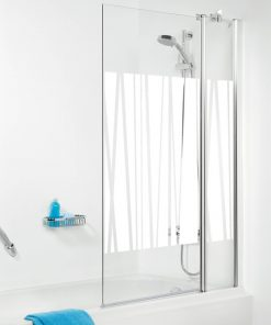 Sealskin Get Wet S105 badzijwand 100x140 cm chroom kabana decor glas