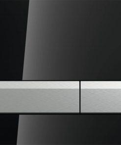 Geberit Sigma 40 bedieningsplaat met duofresh geurafzuigingsset Glas Zwart-Aluminium