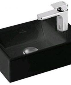 Villeroy&Boch Memento Fontein geslepen 40x26cm kraangat rechts Ceramicplus Glossy Black