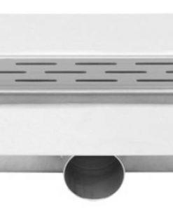 Easydrain Compact FF 30 afvoergoot 6x80 cm zijuitlaat met afdichtingsdoek RVS