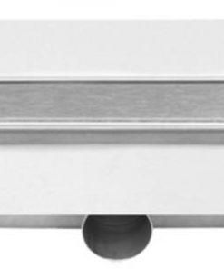Easydrain Compact FF Zero afvoergoot 80 x 6 cm. zijaansluiting Rvs