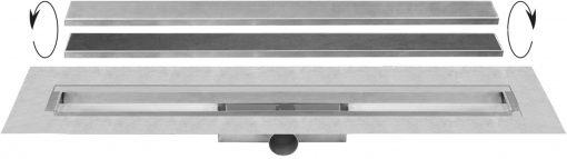 Easydrain Compact 30 TAF afvoergoot 70 cm rooster als zero of tegel design RVS