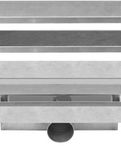 Easydrain Compact 50 TAF Wall afvoergoot 90 x 6 cm. zijaansluiting Rvs