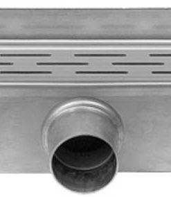 Easydrain Compact Wall 30 afvoergoot 6x80 cm zijuitlaat RVS