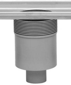 Easydrain Multi douchegoot 80 cm. onderuitloop zonder rooster Rvs