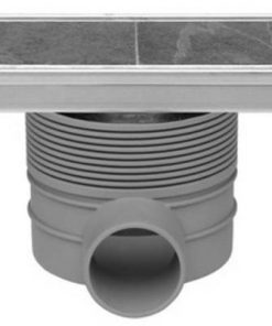 Easydrain Tegeldrain tegel afvoer goot 9.8x70cm. met sifon (tgl.roosterd.12mm Rvs