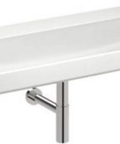 Sphinx 420 wastafel zonder kraangat 140x48 cm wit