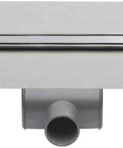 Easydrain XS Taf douchegoot 80cm met rooster z1 waterslot 50mm RVS Geborsteld