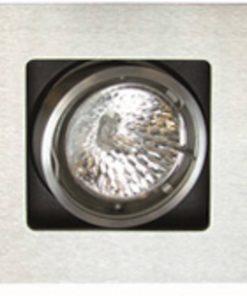 Ben Plafondspot Set 3 stuks vierkant Geborsteld Aluminium Halogeen