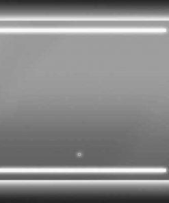 Ben Mytho spiegelpaneel met LED verlichting boven en onder 150x55 cm