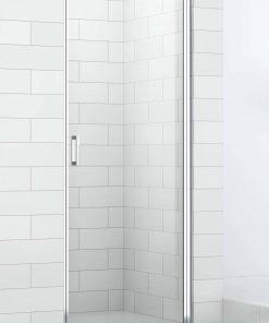 Saniselect Elina Nisdeur 100x210 cm rechts aluminium gepolijst / helder veiligheidsglas