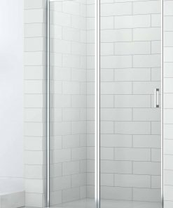 Saniselect Elina Nisdeur 120x210 cm links aluminium gepolijst / helder veiligheidsglas