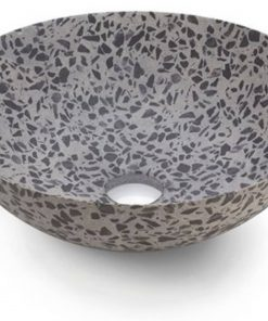 Bathco Terrazo OpbouwkomØ 40x15 cm Black