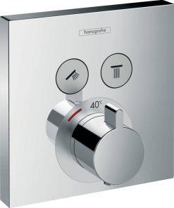 Hansgrohe ShowerSelect thermostaat met stopkranen 2 functies chroom