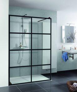 Duschprofi Walk In Pro inloopdouche Loft 3 120x200 cm helder glas mat zwart
