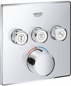 Grohe Smartcontrol Afdekset voor Douchekraan met omstel 3x vierkant Chroom