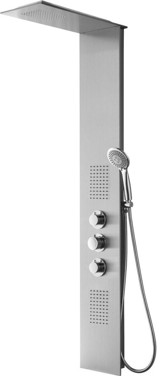 Saniselect Douchekolom met thermostatische kraan 150x22 cm RVS