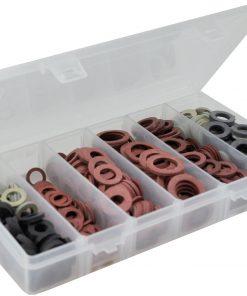 Saniselect Pakkingsassortiment fiber- en rubberringen 550 stuks