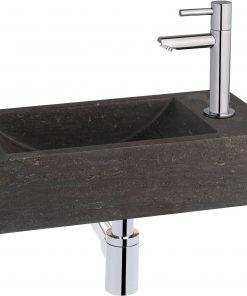 Saniselect fontein compleet rechts 40x22x10 cm Hardstenen