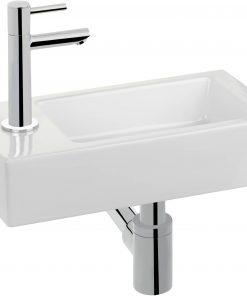 Saniselect Fontana XL fonteinset links chroom