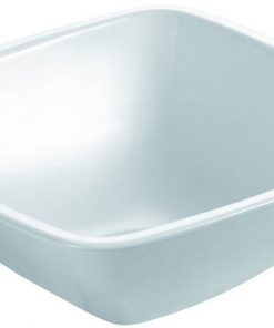 Bathco Waskom Baviero Bathco Waskom keramiek zonder kraangat 30x30x11 cm Wit