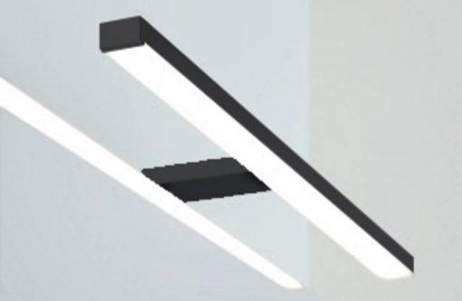 Line 45 Opbouwlamp Rechthoekig 50 cm Mat Zwart tbv. Spiegelkast