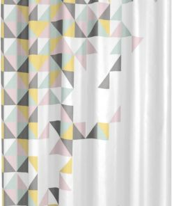 Sealskin Tangram Douchegordijn Textiel 180 x 200cm Multi Colour
