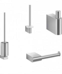 ZACK Atore toilet accessoireset 4-in-1 RVS mat