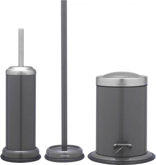 Sealskin Acero toilet accessoireset 3-in-1 grijs