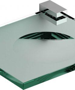 Clou Quadria Zeepschaal Helder glas/Chroom