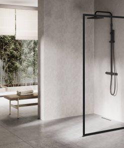 Ben Delphi Inloopdouche met Helder Glas 90x200 cm Mat Zwart