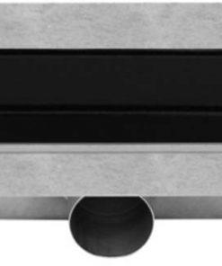 Easydrain Compact TAF Modulo Design douchegoot 80 cm met Rooster Zero+ Zwart