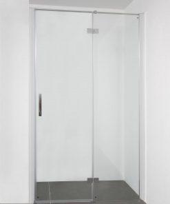 Saniselect Grado (Nis)draaideur 90x210 cm vast deel rechts Aluminium / Helder Glas