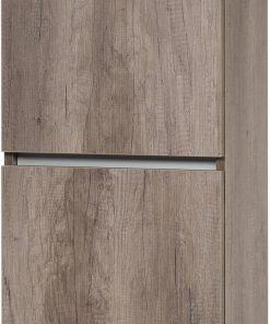 Ben Limara Hoge kast links 45x29x165 cm Nebraska Eiken/Aluminium