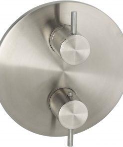 Ben Linox thermostaat met 3-weg omstelling afbouwdeel RVS