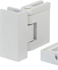 Saniselect modella montageset voor zijwand met klemscharnier en dichtingsstrip Mat Wit