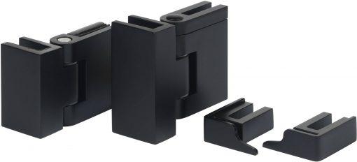 Saniselect modella montageset voor zijwand met klemscharnier en dichtingsstrip Mat Zwart