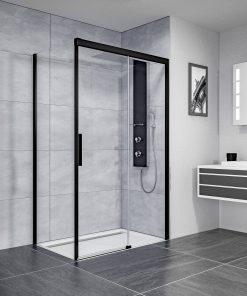 Ben IMotion douchecabine rechts schuivend 140x90x206 cm mat zwart/helder glas