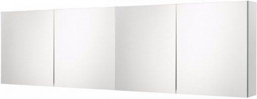Ben Prestige Spiegelkast 160 cm met 4 Deuren en 2x Opbouwlamp