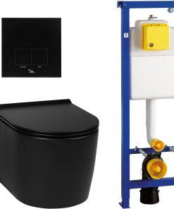Saniselect compact rimless mat zwart / Ben BPF set