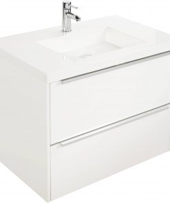 Saniselect Socan meubelset 2 lades met mineraalmarmere wastafel 80cm Mat Wit