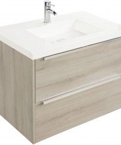 Saniselect Socan meubelset 2 lades met mineraalmarmere wastafel 80cm Litho Grijs