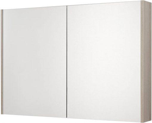 Saniselect Socan Spiegelkast 2 deuren 100cm Litho Grijs