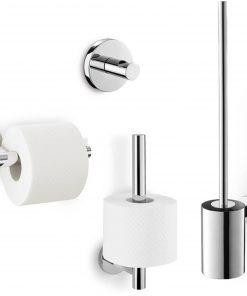 ZACK Scala toilet accessoireset 4-in-1 RVS glans