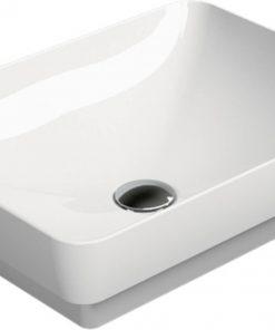 Ben Segno keramische (half)opbouwwastafel 50x38 cm Mat Wit Xtra Glaze
