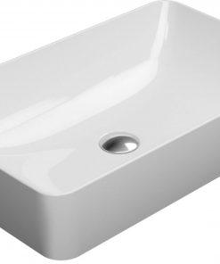 Ben Stilo keramische opbouwwastafel 60x38 cm Mat Wit Xtra Glaze