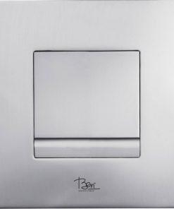 Ben Style Drukplaat Mechanisch 16x16 cm Chroom