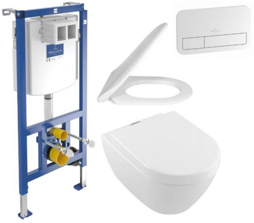 Villeroy&Boch Subway 2.0 Vifresh Viconnect toiletset wit